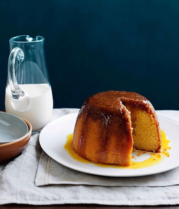"**[Golden syrup pudding](https://www.gourmettraveller.com.au/recipes/browse-all/golden-syrup-pudding-10688|target=""_blank"")**"