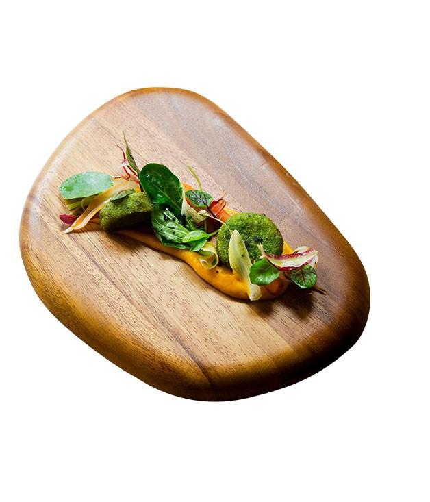 **Bar Nacional's crisp pig's head with carrots and horseradish** Photography: Marcel Aucar
