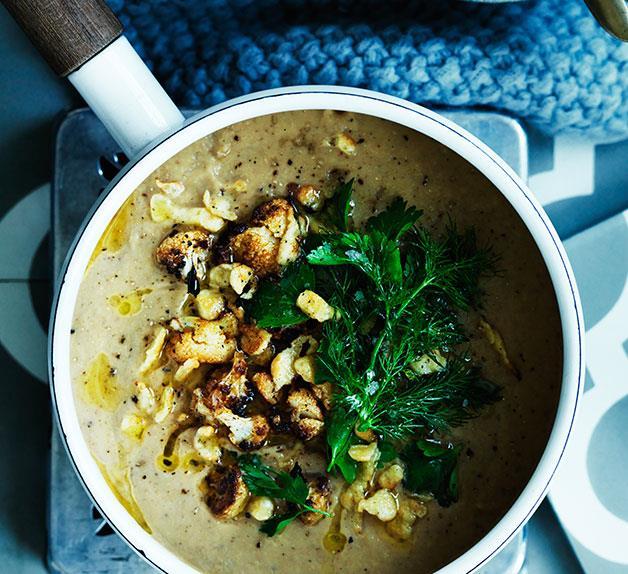 Hungarian paprika-spiced cauliflower soup