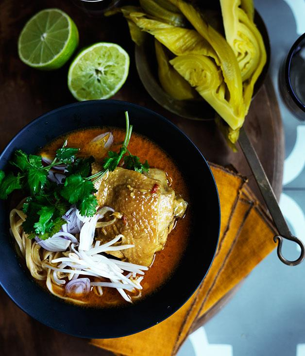 "**[Khao soi](https://www.gourmettraveller.com.au/recipes/browse-all/khao-soi-12043|target=""_blank"")**"