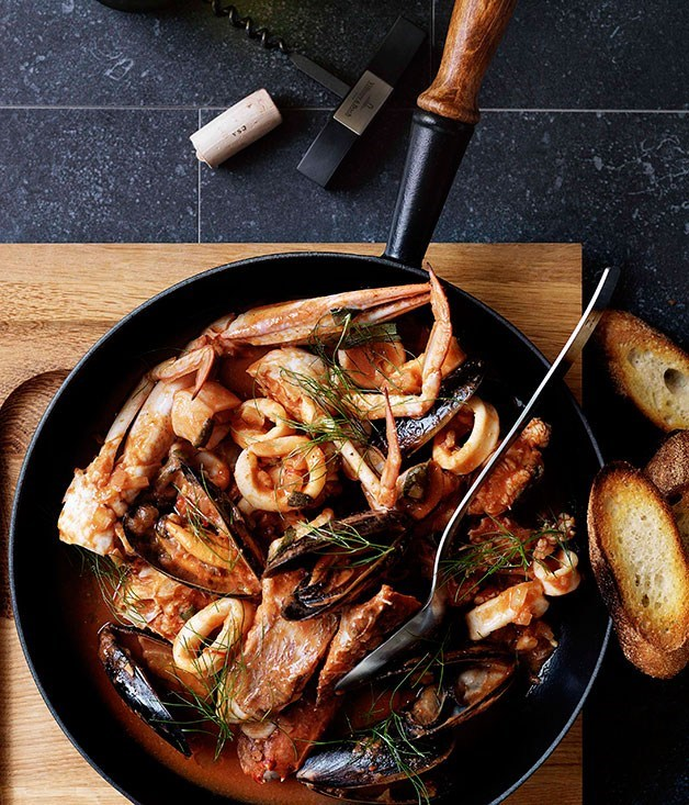 "**[Livornese seafood stew](https://www.gourmettraveller.com.au/recipes/browse-all/livornese-seafood-stew-10432|target=""_blank"")**"