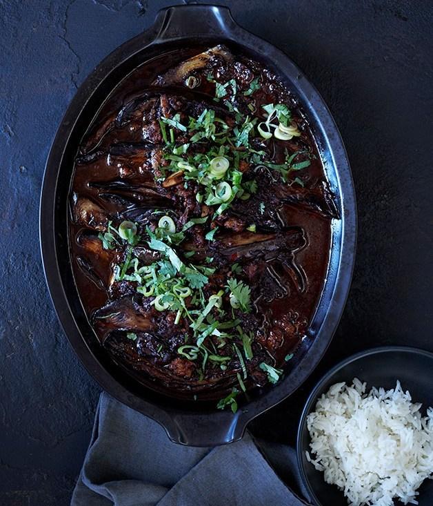 **Sichuan braised eggplant**