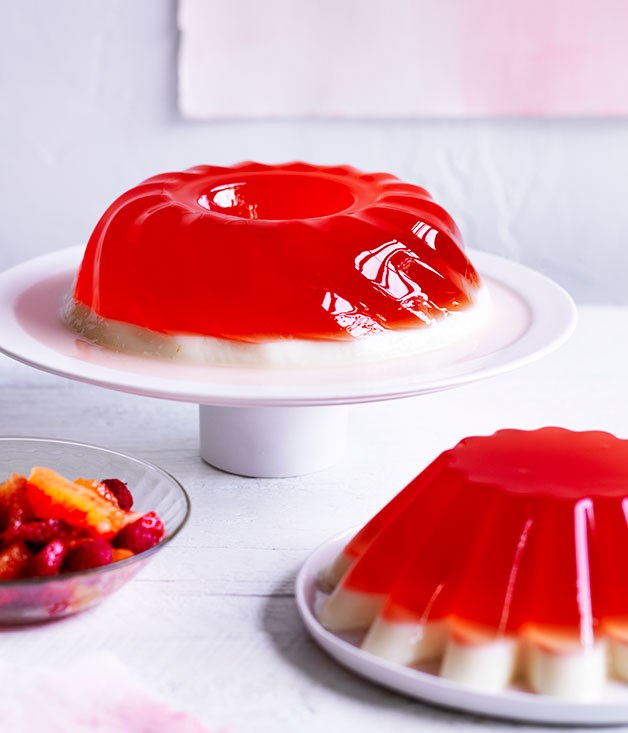 Blood orange and buttermilk jelly