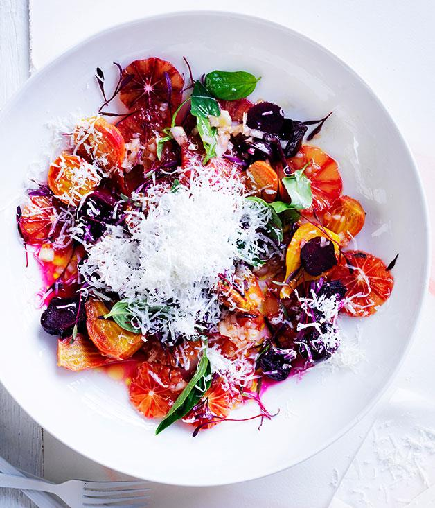 "**[Roast beetroot and blood orange salad](https://www.gourmettraveller.com.au/recipes/browse-all/roast-beetroot-and-blood-orange-salad-13980|target=""_blank"")**"