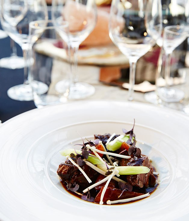 **** Liquorice-braised beef short rib with turnips, enoki mushrooms and basil by Best New Talent finalist Victor Liong from Melbourne restaurant Lee Ho Fook.