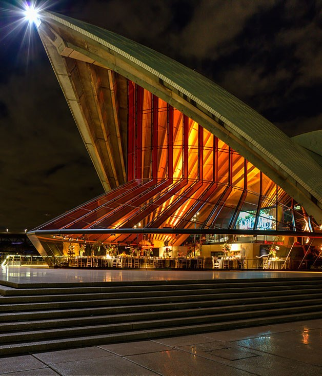 **** The Bennelong room at the Sydney Opera House shining bright.