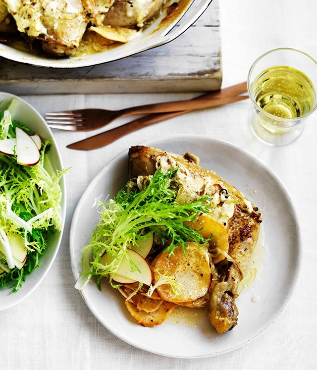 **Chicken with swede, cider and creme fraiche**