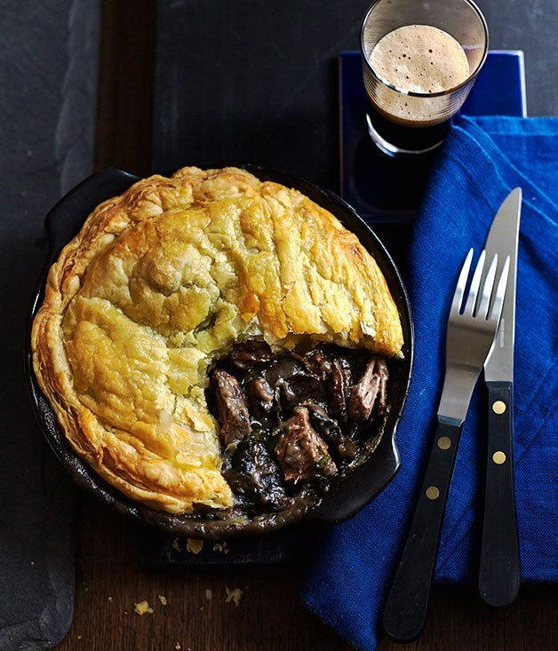**Beef brisket and mushroom pot pies**