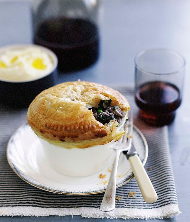 **Duck and pea pie**