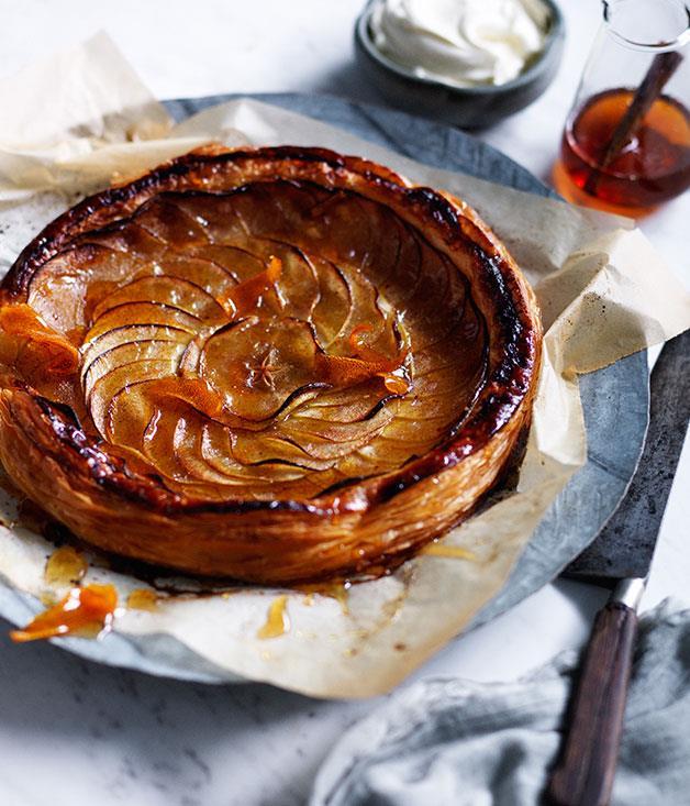 "**[Tarte fine aux pommes](https://www.gourmettraveller.com.au/recipes/browse-all/tarte-fine-aux-pommes-12084|target=""_blank"")**"