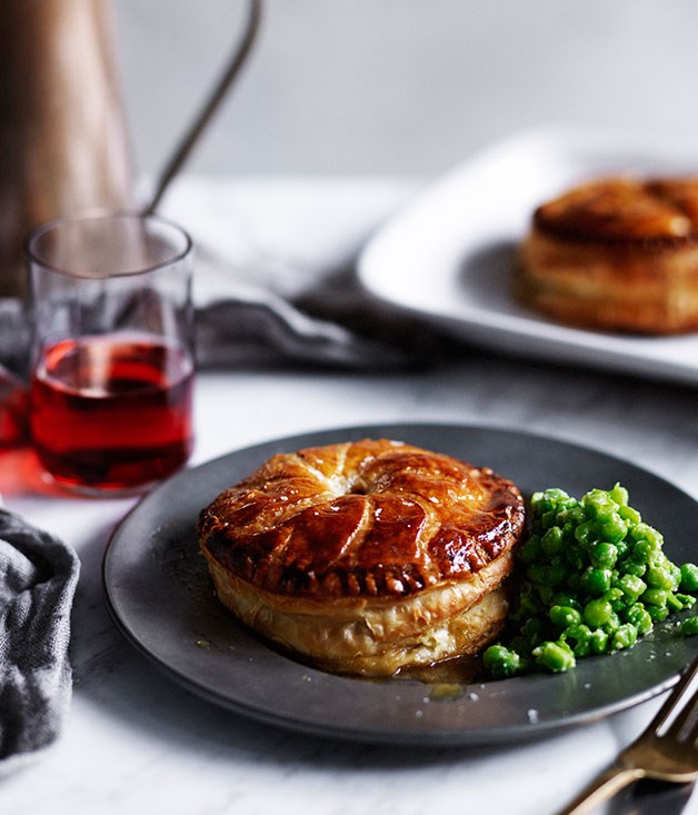 Chicken, spring onion and tarragon Pithiviers