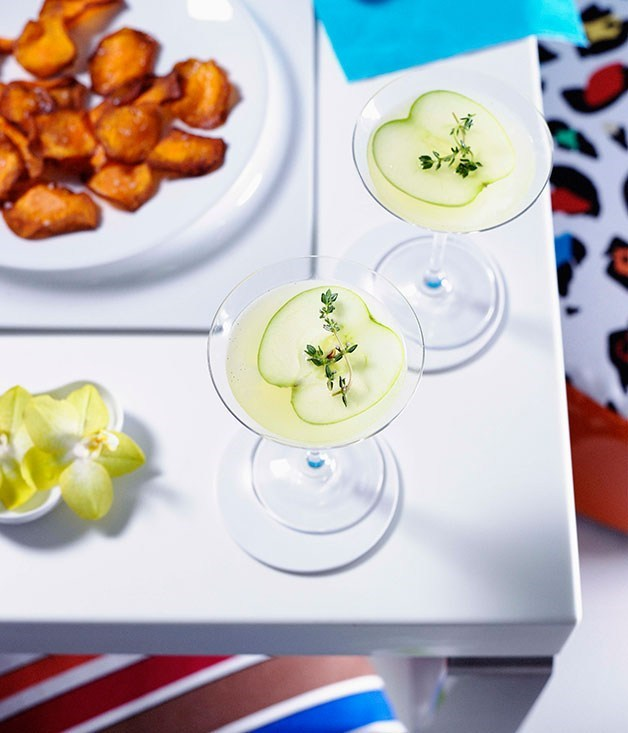 **Vanilla, apple and thyme martinis**