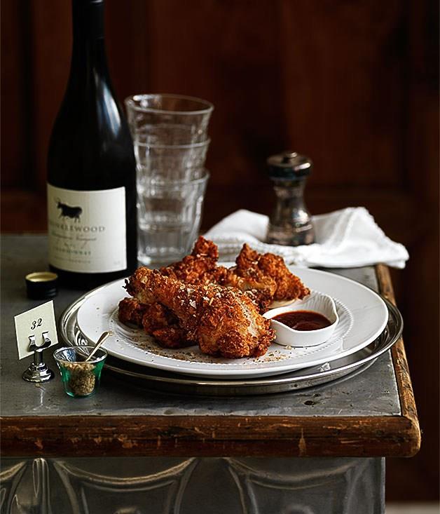 **Crisp Southern fried chicken**