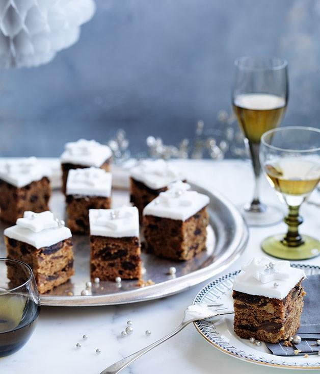 """[**Christmas cake with fondant**](https://www.gourmettraveller.com.au/recipes/browse-all/christmas-cake-with-fondant-11843 target=""""_blank"""")"""