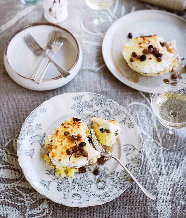 """[**Double-baked Christmas cheesecake**](https://www.gourmettraveller.com.au/recipes/browse-all/double-baked-christmas-cheesecake-11147