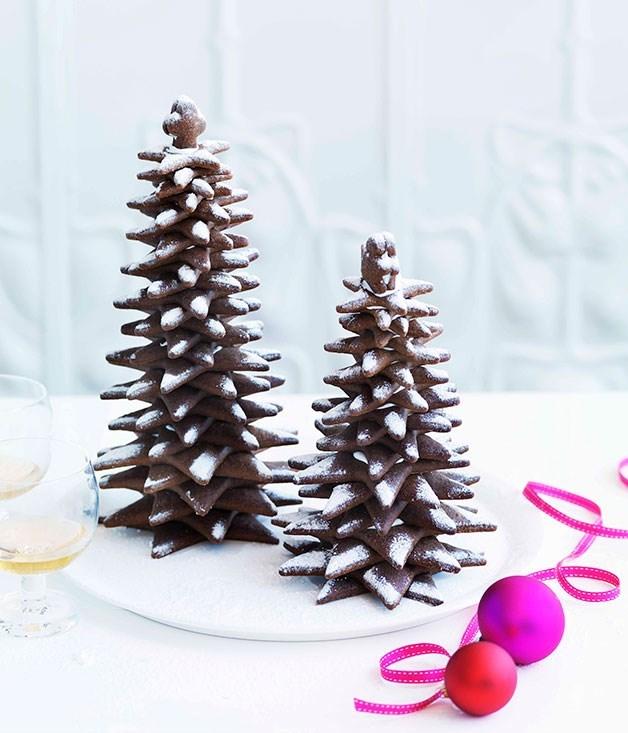 "[**Gingerbread Christmas trees**](https://www.gourmettraveller.com.au/recipes/chefs-recipes/adriano-zumbo-gingerbread-christmas-trees-7354|target=""_blank"")"
