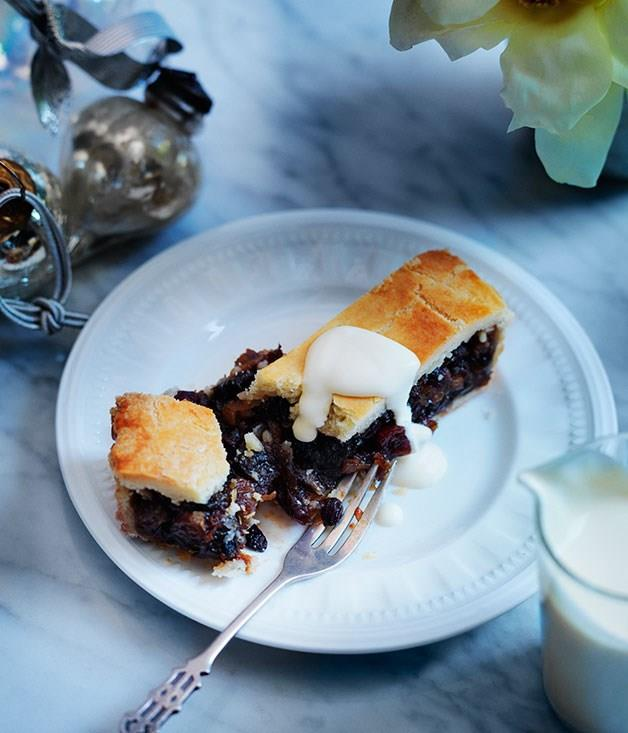 "[**Proper mincemeat tart**](https://www.gourmettraveller.com.au/recipes/browse-all/proper-mincemeat-tart-11833 target=""_blank"")"