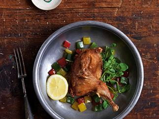 Mum's crisp quail