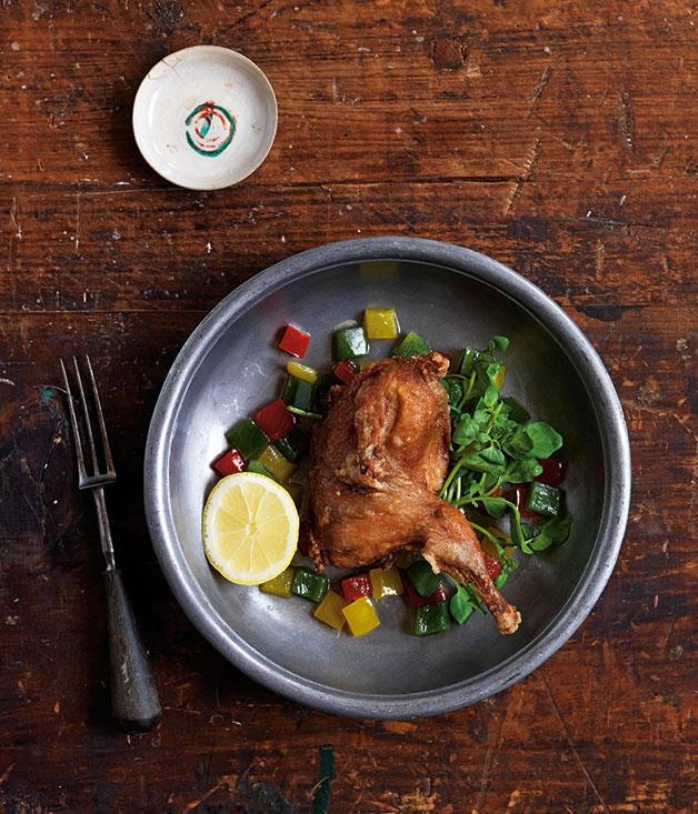 "**[Mum's crisp quail](https://www.gourmettraveller.com.au/recipes/chefs-recipes/mums-crisp-quail-8161|target=""_blank"")**"
