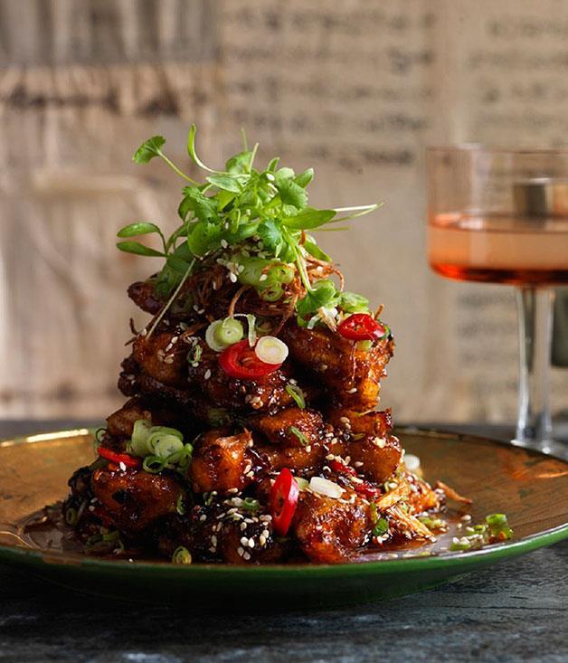 "**[Crisp eggplant with fish-fragrant sauce](https://www.gourmettraveller.com.au/recipes/chefs-recipes/crisp-eggplant-with-fish-fragrant-sauce-8163|target=""_blank"")**"