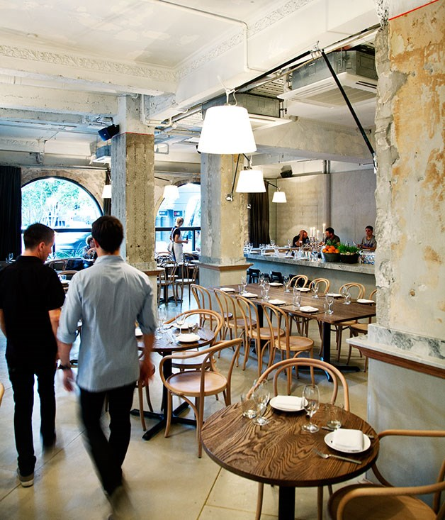 """**** The dusty hues at [The Apollo](http://gourmettraveller.com.au/restaurants/restaurant-guide/restaurant-reviews/t/the/the-apollo/ """"The Apollo""""), Livissianis tells us, were inspired by the crags and cliffs of the Greek islands."""