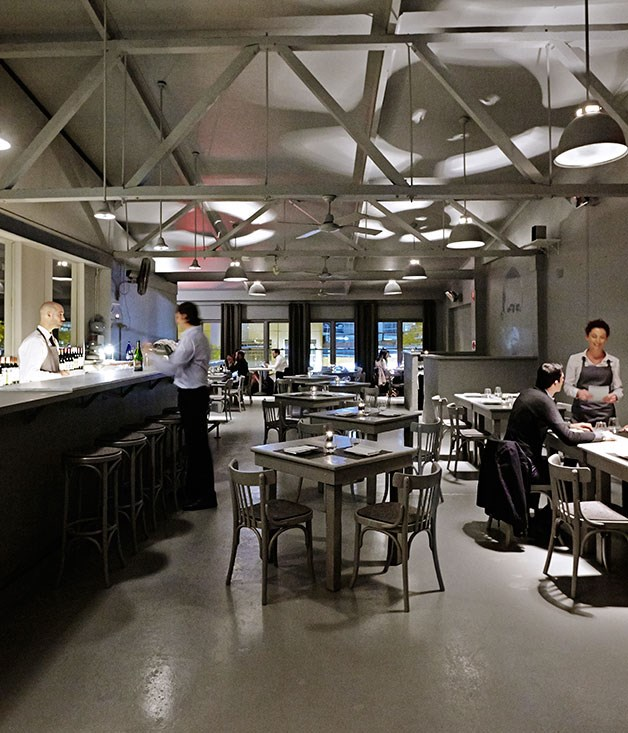 """**** The dining room at [Café Paci](http://gourmettraveller.com.au/restaurants/restaurant-guide/restaurant-reviews/t/the/the-apollo/ """"The Apollo""""), and everything in it, is painted the same shade of Taubmans Iron Age grey."""