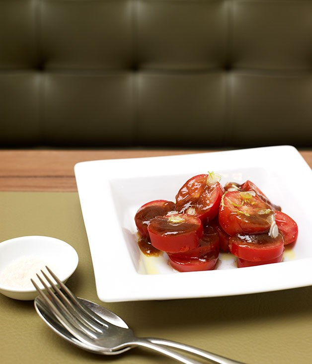 Tomato salad with tamarind dressing