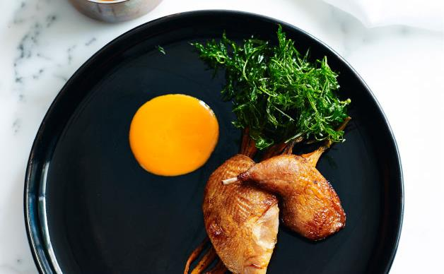 Redgate Farm quail with carrots and miso