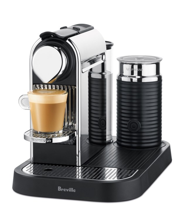**Nespresso Breville Citiz & milk Chrome coffee machine** [Here's some hardware](http://breville.com.au) that'll keep the coffee obssesive in your life well-caffeinated with its ability to pump out straight espresso and milk-based coffees with equal facility. _$399_