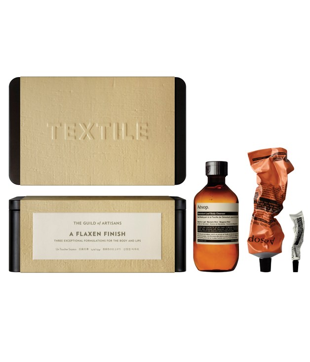 "**Aesop gift pack** Give the gift of glowing skin with one of [Aesop's](http://www.aesop.com/au/?gclid=CJPA-ru0gMICFY8rvQod_VUACw ""Aesop"") six new skincare gift packs - perfect for scrubbing-up post plane, beach or party. _From $65_"