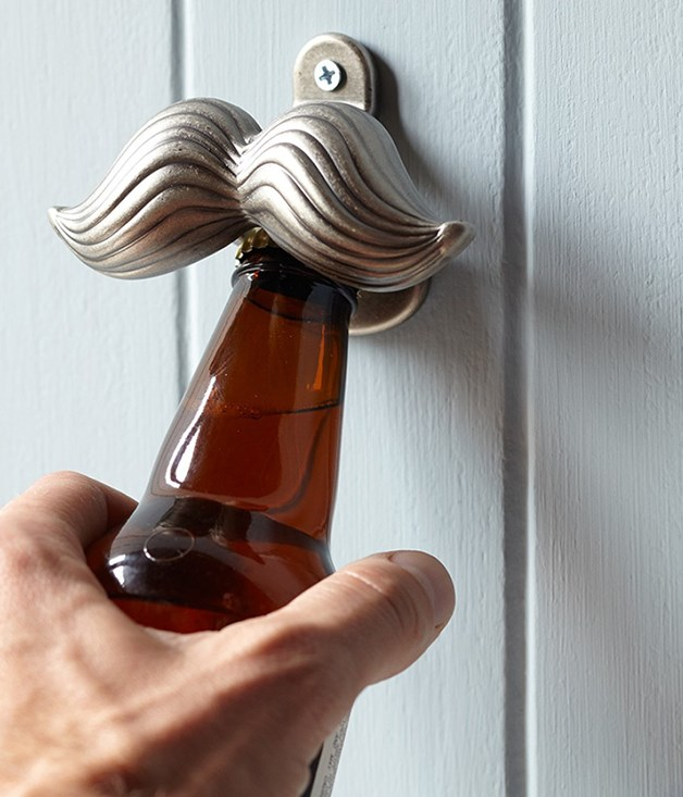 "**Williams-Sonoma novelty wall-mounted moustache bottle opener** Here's something for the co-worker who's ""forgotten"" to shave post-Movember: a wall-mounted [mo-shaped bottle opener](http://www.williams-sonoma.com.au/novelty-wall-mounted-bottle-opener-mustache ""Williams-Sonoma"") from Williams-Sonoma. _$22_"