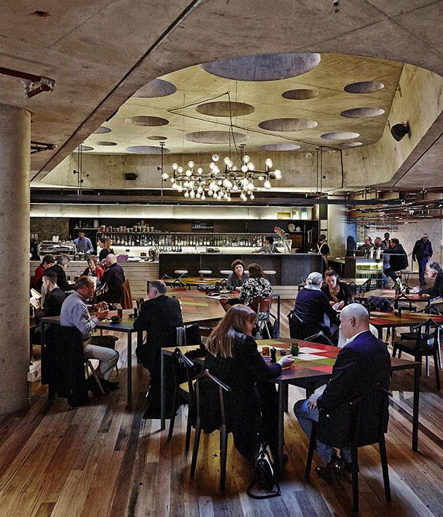 **Monster** Were it to have featured on _Grand Designs_, Hotel Hotel might have had some false starts. Ultimately, though, the team would have returned to declare the slightly chaotic rhomboid tables and fireside couches that define its lobby restaurant, Monster, a triumph.  Read our full review of [Monster](http://www.gourmettraveller.com.au/restaurants/restaurant-guide/restaurant-reviews/m/monster/monster/)