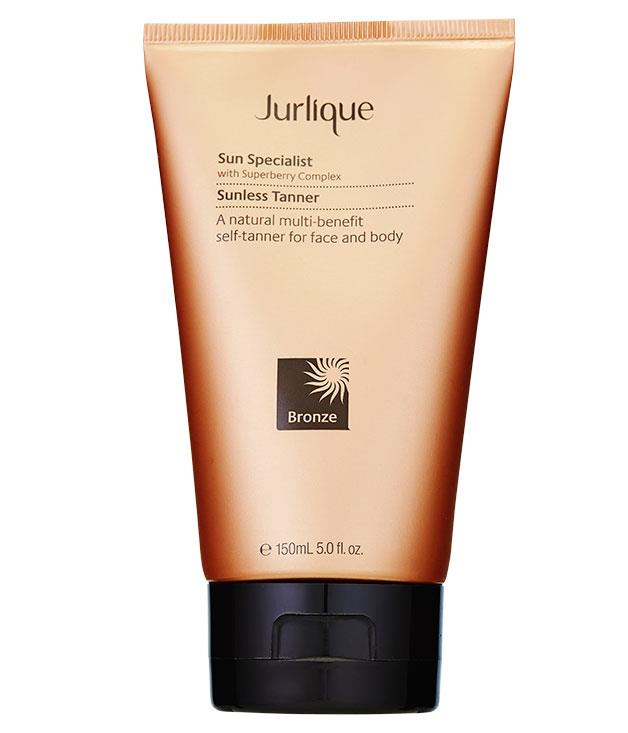 "**** Try [Jurlique](http://www.jurlique.com.au ""Jurlique"") Sun Specialist Sunless Tanner, $45 for 150ml, for a fake tan top-up."
