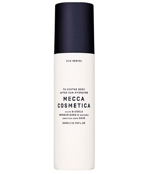"**** [Mecca Cosmetica](http://www.meccacosmetica.com.au ""Mecca Cosmetica"") To Soothe Body After Sun Hydrator, $36 for 200ml, is a cooling gel with arnica flower extract and allantoin to calm post-sun skin."