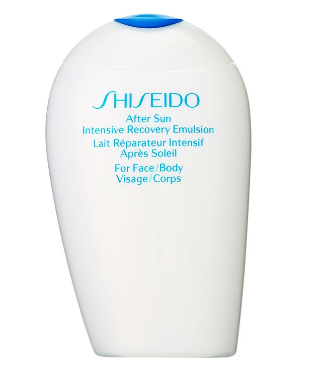 "**** Try not to find yourself sunburnt, but if you do, this [Shiseido](http://www.shiseido.com ""Shiseido"") After Sun Intensive Recovery Emulsion, $41 for 150ml, will offer relief."