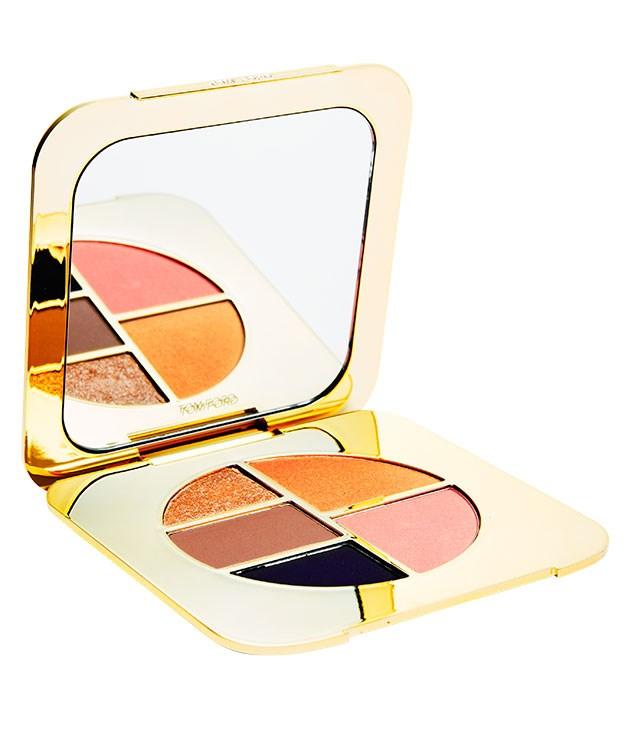 "**** [Tom Ford](http://www.tomford.com ""Tom Ford"") Eye and Cheek Compact in Unabashed, $130. Sexy shades, glam case, this man can do no wrong."
