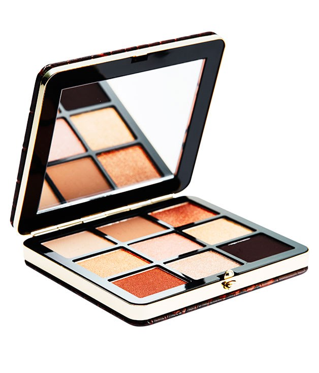 "**** [Bobbi Brown](http://www.bobbibrown.com.au ""Bobbi Brown"") Warm Glow Eye Palette, $125, is serious travel-tote candy with its croc-inspired packaging and neutral eyeshadow range."