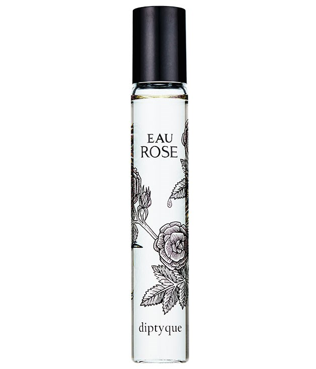 "**** [Diptyque](http://www.diptyqueparis.com/ ""Diptyque"") Eau Rose Roll-On, $62 for 20ml, is rose at its best, laced with notes of musk and lychee."