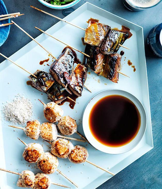 "[Chicken tsukune](https://www.gourmettraveller.com.au/recipes/browse-all/chicken-tsukune-11765 target=""_blank"")"