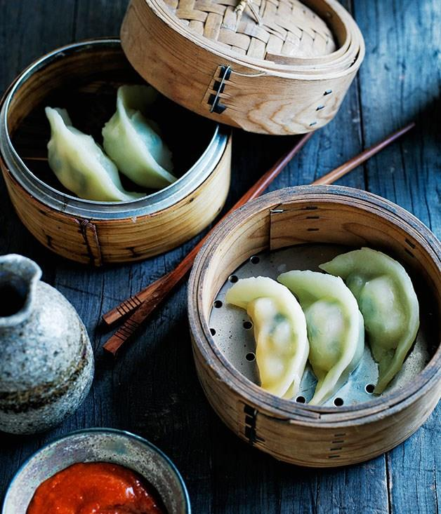 "[Jade prawn dumplings](https://www.gourmettraveller.com.au/recipes/browse-all/jade-prawn-dumplings-12016 target=""_blank"")"