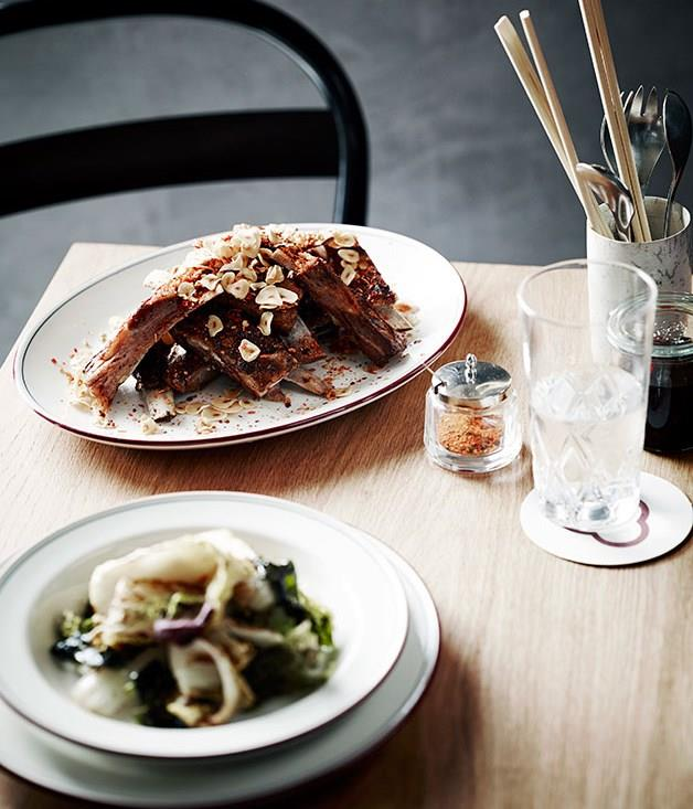 """[Downtown ribs](https://www.gourmettraveller.com.au/recipes/chefs-recipes/downtown-ribs-8040 target=""""_blank"""")"""