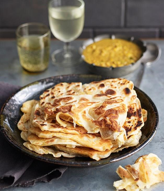 "[Roti canai](https://www.gourmettraveller.com.au/recipes/browse-all/roti-canai-14197 target=""_blank"")"