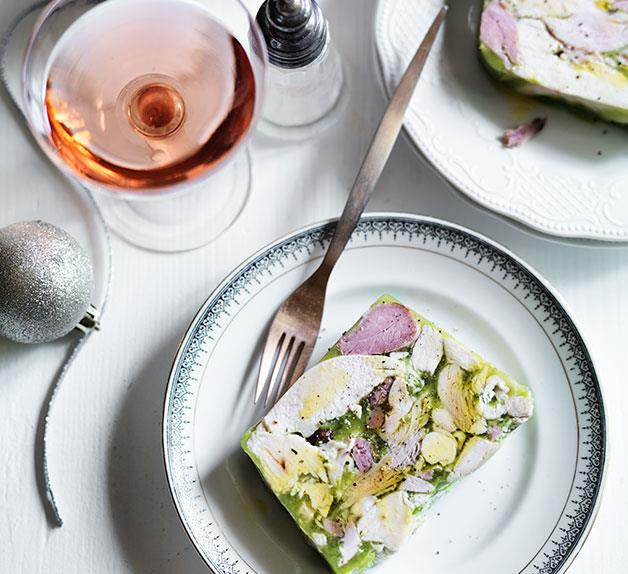 Ham and chicken terrine