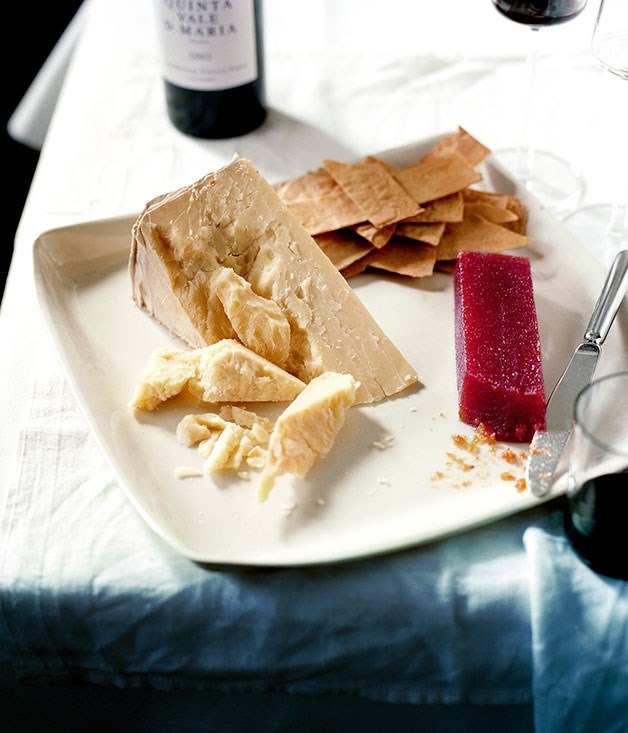 "[**Bath Oliver crackers with cheddar and port**](https://www.gourmettraveller.com.au/recipes/chefs-recipes/bath-oliver-crackers-with-cheddar-and-port-7345|target=""_blank"") <br><br> These are best served with a good aged cheddar and some good-quality port. They can also be baked in large sheets and broken into smaller pieces."