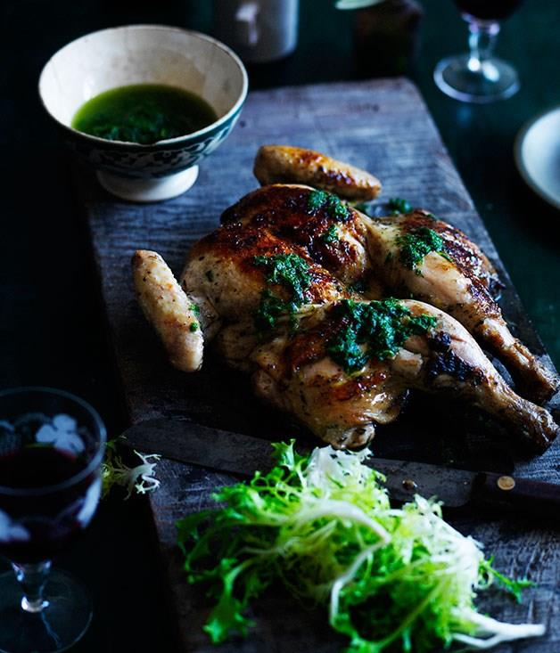 **Grilled chicken with salmoriglio**