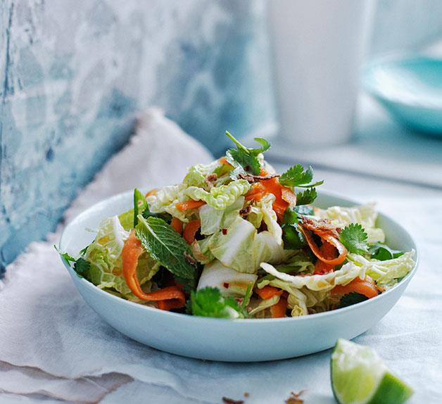 Vietnamese-style slaw with pickled carrot