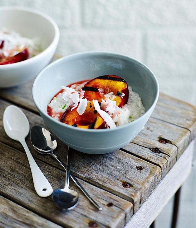 "[Grilled nectarines with coconut tapioca](https://www.gourmettraveller.com.au/recipes/fast-recipes/grilled-nectarines-with-coconut-tapioca-13556|target=""_blank"")"