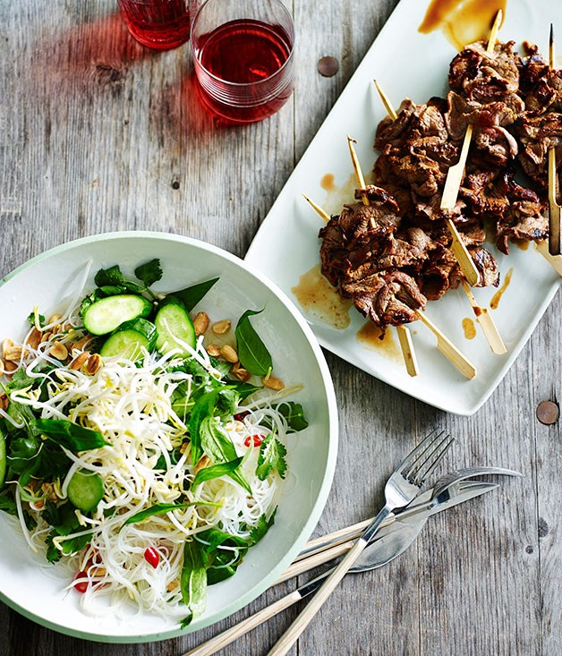 Vietnamese-style beef and vermicelli salad