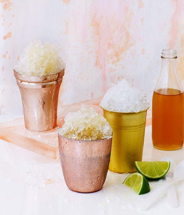Cola and lime snow cones