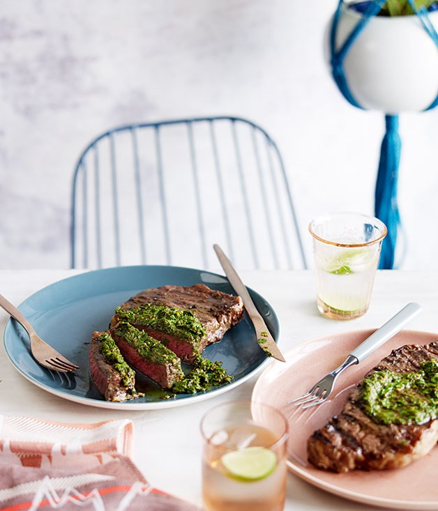 Bife ancho with chimichurri